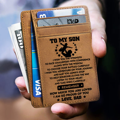 Dad to Son - I Wish You The Strength - Card Wallet