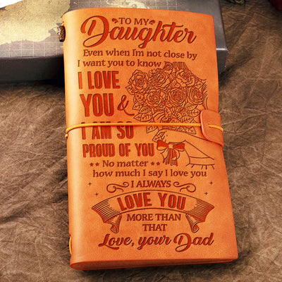 Dad To Daughter - I'm So Pround Of You - Vintage Journal