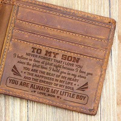 Mom to Son -  Because I Love You - Bifold Wallet