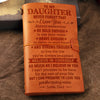 Dad to Daughter - Never Forget That I Love You - Vintage Journal