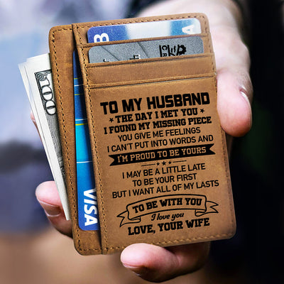 To My Husband - I'm Proud To Be Yours - Card Wallet