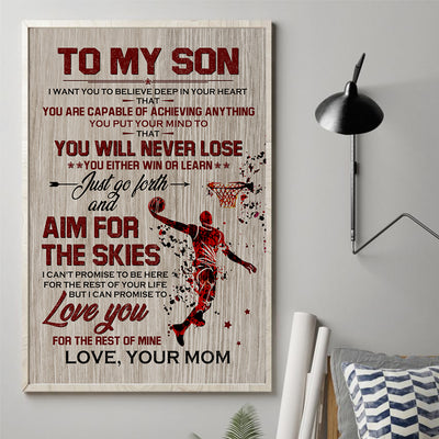 MomTo Son - Aim For The Skies - Vertical Matte Posters