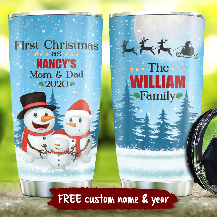 1st Christmas - Personalized Tumbler