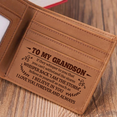 To My Grandson - Believe In Yourself - Bifold Wallet