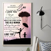 Mom to Son - This Old Woman Will Always Have Your Back - Vertical Matte Posters