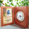 Husband To Wife - You Are My Queen - Wooden Book Clock