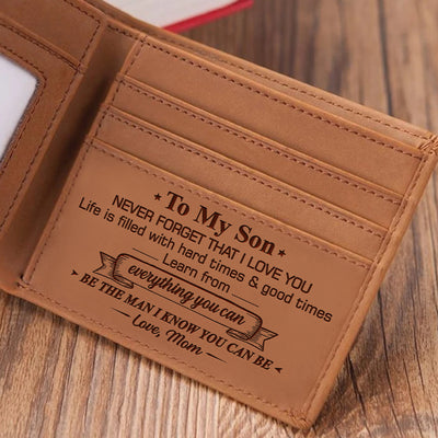 Mom To Son - Be The Man I Know You Can Be - Bifold Wallet