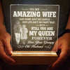 Husband To Wife - You are my queen forever - Led Light