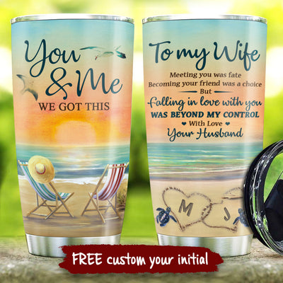 To My Wife - Meeting You Was Fate - Personalized Tumbler