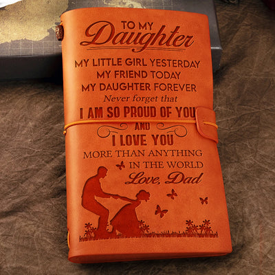Dad to Daughter - My Daughter Forever - Vintage Journal