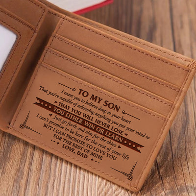 Dad to Son - LOVE YOU FOR THE REST OF MINE - Bifold Wallet