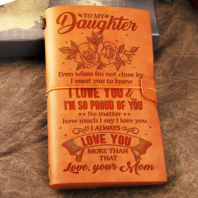 Mom To Daughter - I Want You To Know I Love You - Vintage Journal