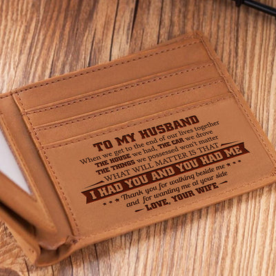 To My Husband - Thank You For Walking Beside Me - Bifold Wallet