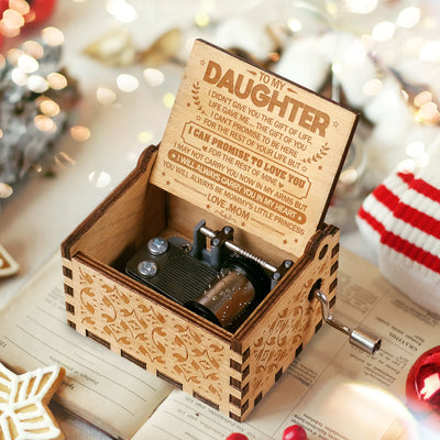 To My Daughter - You Will Always Be My Little Princess - Engraved Music Box