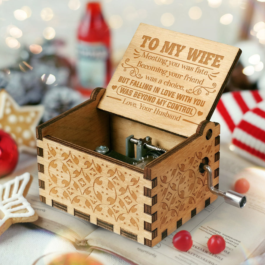 To My Wife - Falling In Love With You - Engraved Music Box