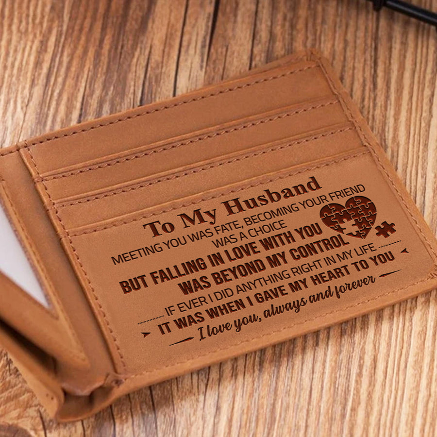 To my Husband - Meeting You Was Fate - Bifold Wallet