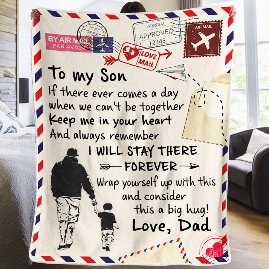 Dad To Son - Keep Me In Your Heart - Blanket