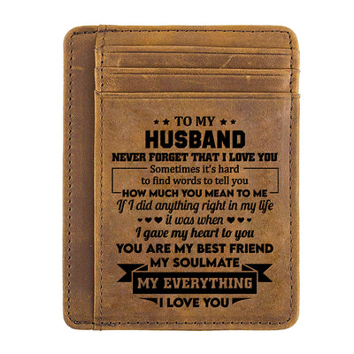 To My Husband - My Everything - Card Wallet