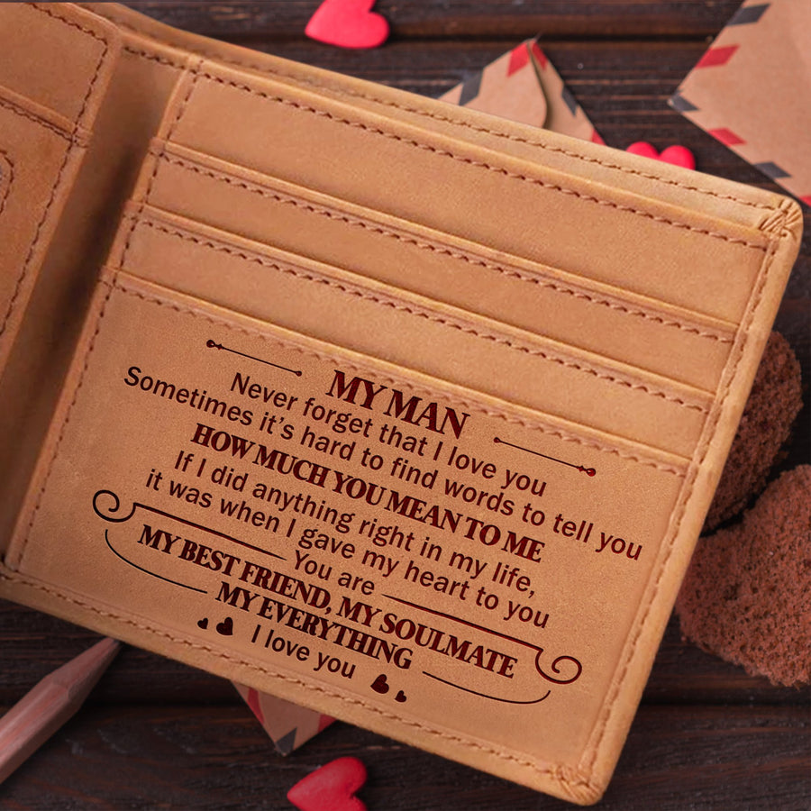 To My Man - How Much You Mean To Me - Bifold Wallet