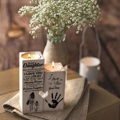 Mom To Daughter - I want you to know I love you - Candle Holder