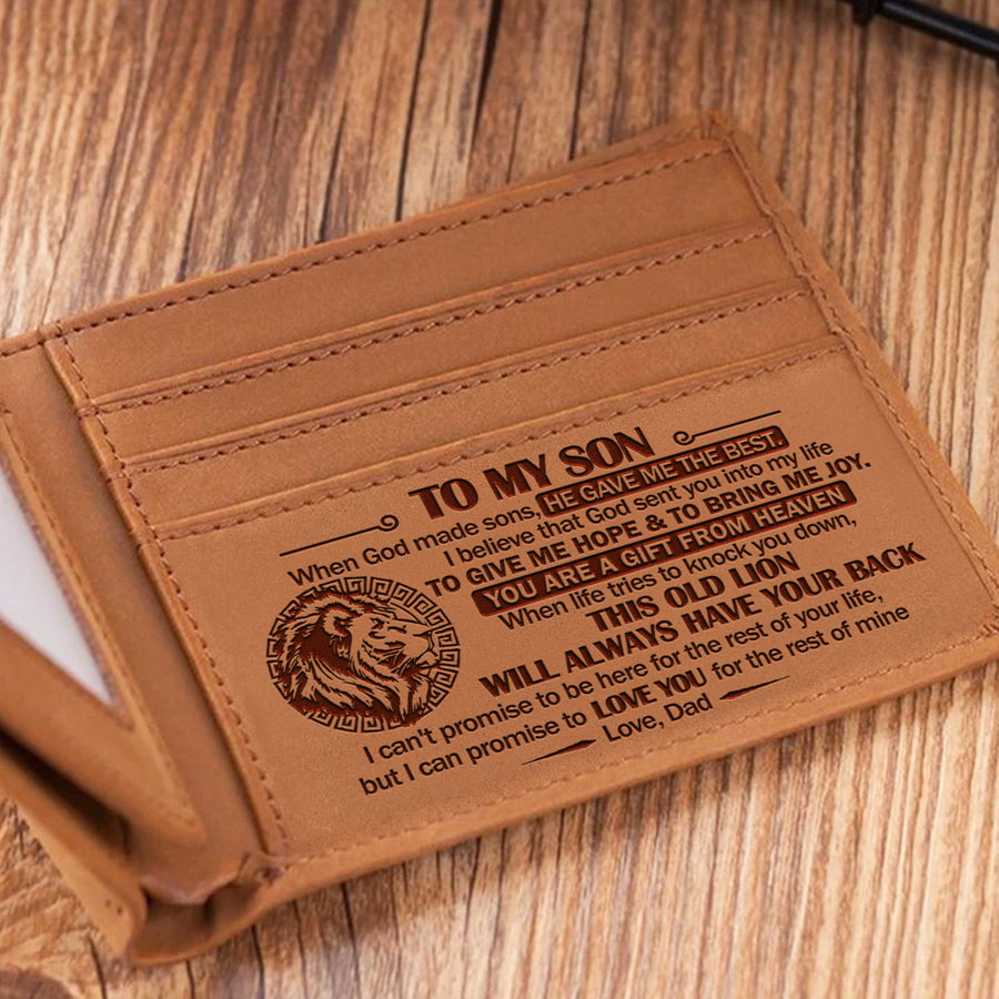 Dad To Son - When God Made Sons, He Gave Me The Best - Bifold Wallet