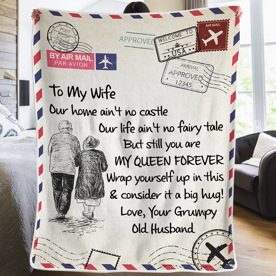Husband To Wife - You Are My Queen Forever - Blanket