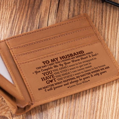 To My Husband - Your Warm Heart And Soul - Bifold Wallet