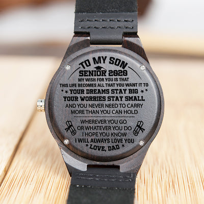 Dad To Son - Your Dream Stay Big - Wooden Watch