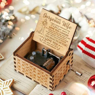 To My Wife - I'd Find You Sooner - Engraved Music Box