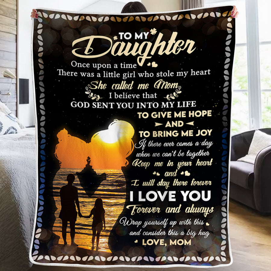 Mom To Daughter - God Sent You Into My Life - Blanket