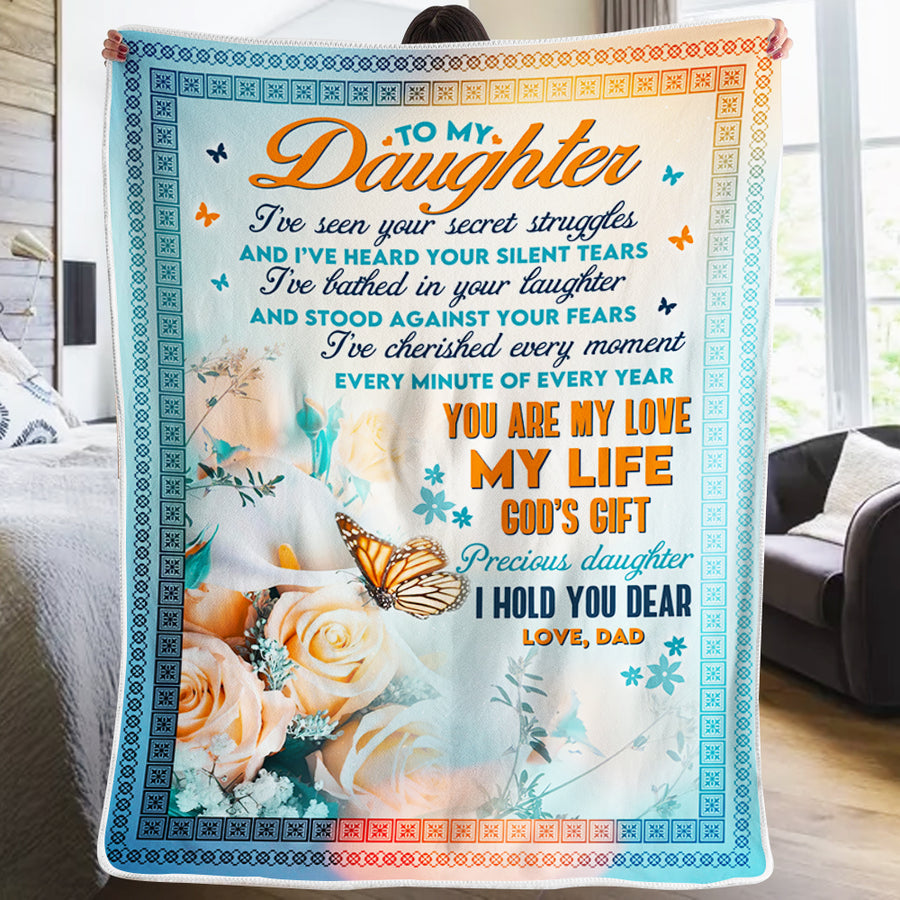 Dad To Daughter - You Are My Love My Life - Blanket