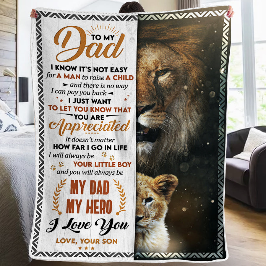 Son To Dad - I Will Always Be Your Little Boy - Blanket