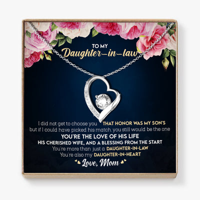Mom To Daughter-in-law - You're The Love Of His Life- Heart Stone Necklace
