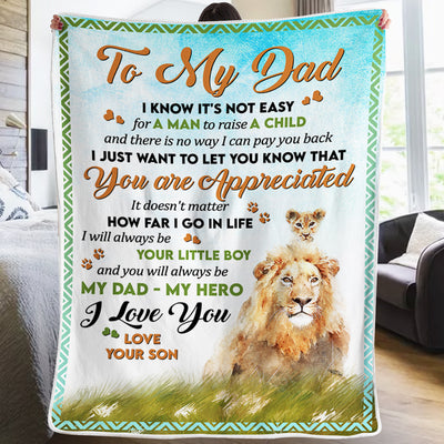 Son To Dad - You Are Aprreciated - Blanket