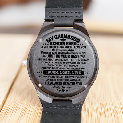 Grandma to Grandson - Follow Your Dreams - Wooden Watch