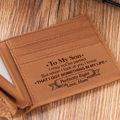 Mom To Son - When I Look At You - Bifold Wallet