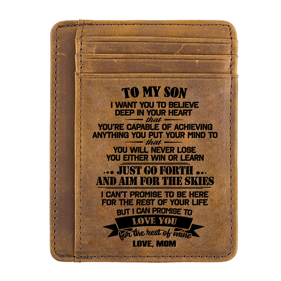 Mom to Son - Just Go Forth And Aim For The Skies - Card Wallet