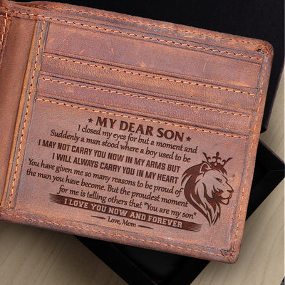 Mom to Son -  I Love You Now And Forever - Bifold Wallet