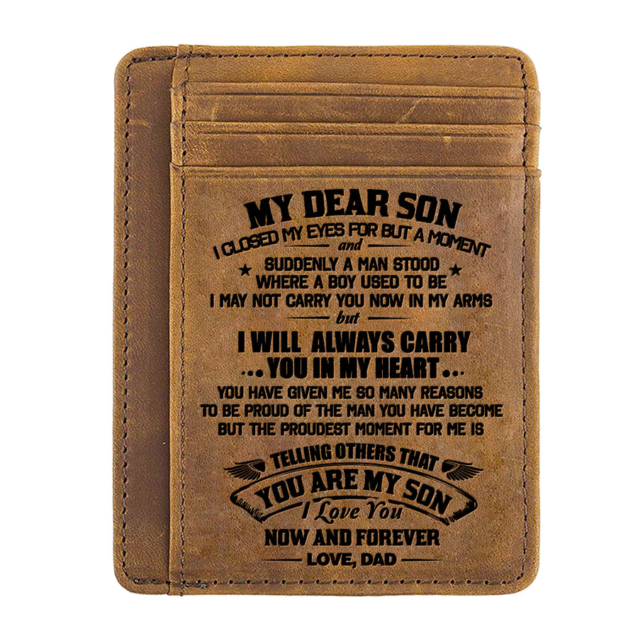 Dad To Son - I Love You Now And Forever - Card Wallet