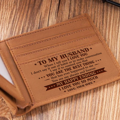 To My Husband - My Happy Ending - Bifold Wallet