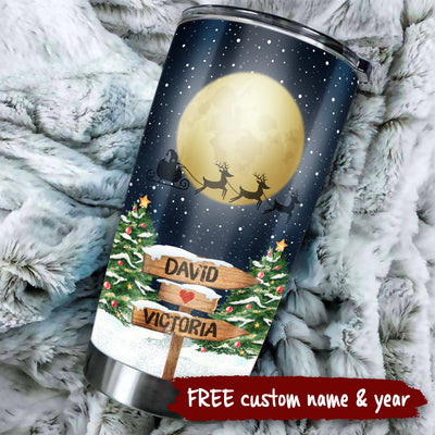 To My Wife - 1st Christmas Together - Personalized Tumbler