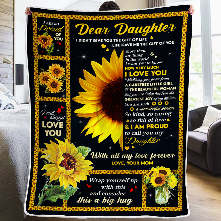 Mom To Daughter - I Am Proud To Call You My Daughter - Blanket