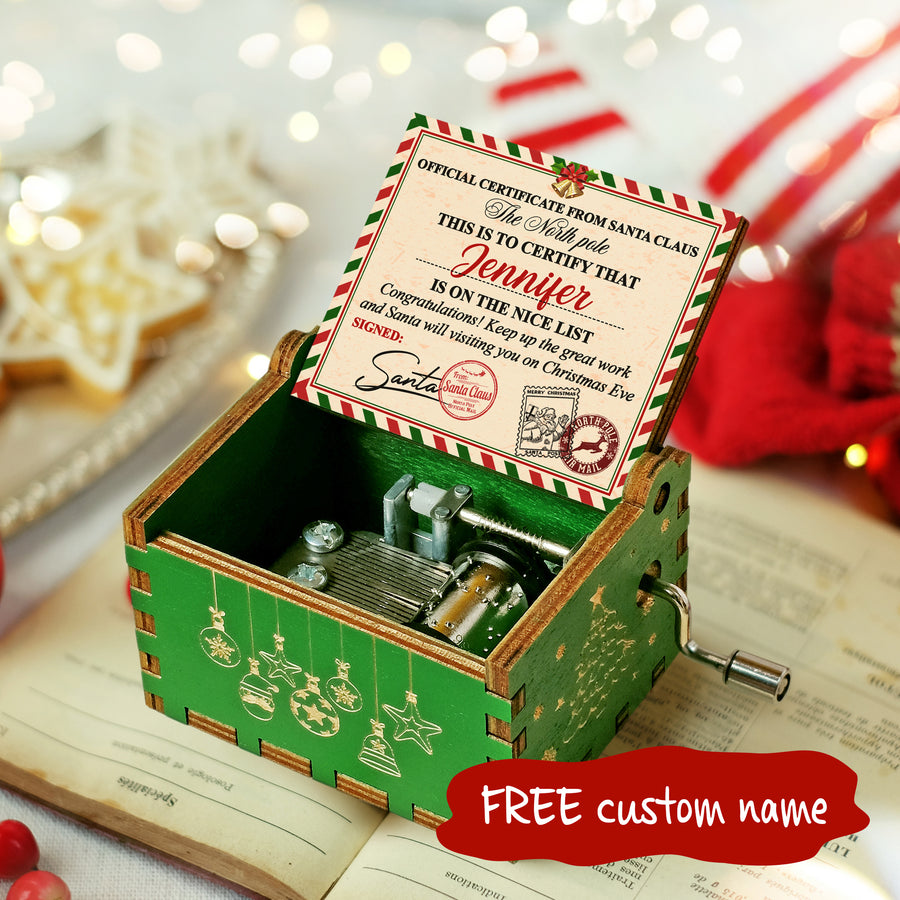 Nice List - Personalized Music Box Color