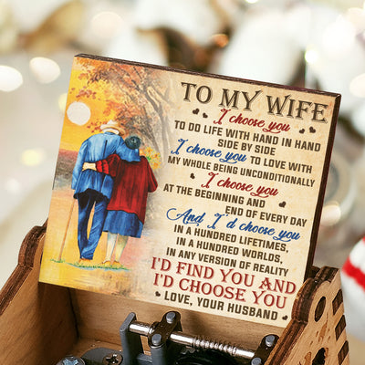 Husband To Wife - I Choose You Side By Side - Colorful Music Box