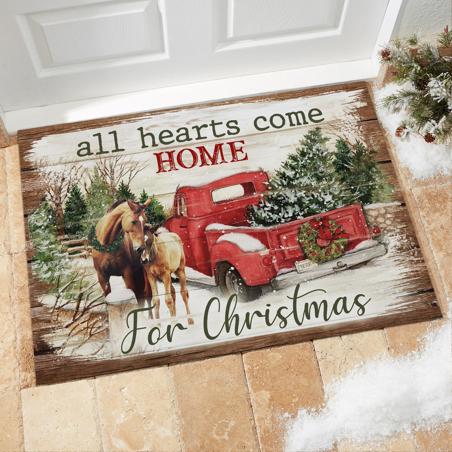 All hearts come home for Christmas - Doormat