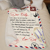 Dad To Daughter - For the amazing woman that you are today - Personalized Blanket