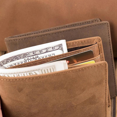 Dad To Son - Enjoy The Ride - Wallet With Clipper