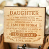 Dad to Daughter  - I Am The Storm - Engraved Music Box