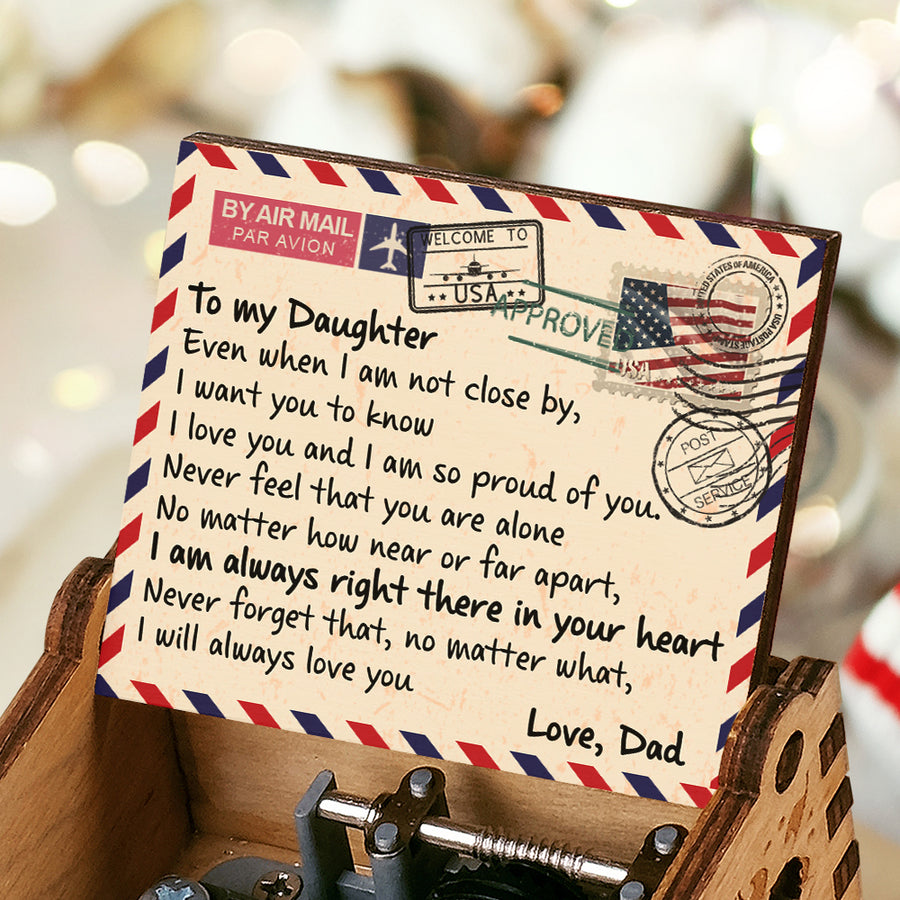 Dad To Daughter - I'm Always Right There In Your Heart - Colorful Music Box
