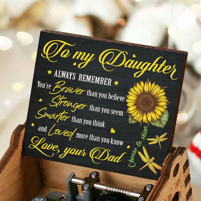 Dad To Daughter - Braver Than You Believe - Music Box Color